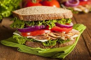 Tam Buğday Ekmeği Sandviç Lezzetler Kanvas Tablo