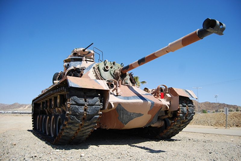 Tank Askeri Savaş Çöl Arazi Kanvas Tablo