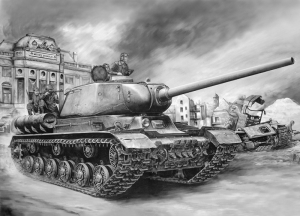 Tank Çizim Askeri Kanvas Tablo