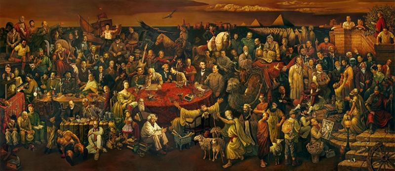 Tarihe Yön Vermiş Kişiler Ünlü Yüzler Kanvas Tablo