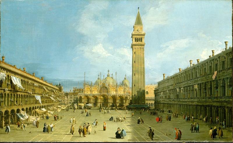 Tarihi Meydan Yağlı Boya Sanat Kanvas Tablo