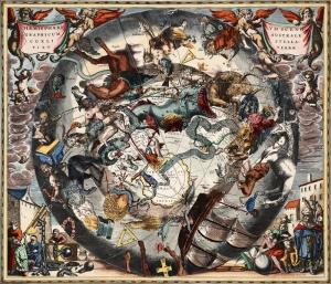 Tarihi Yıldız Haritası 3 Astroloji & Burçlar Kanvas Tablo
