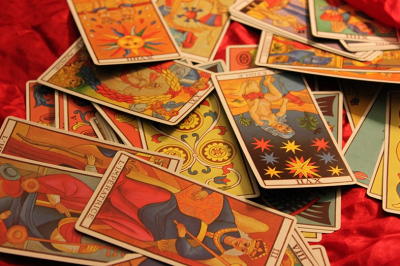 Tarot Kartları Astroloji & Burçlar Kanvas Tablo