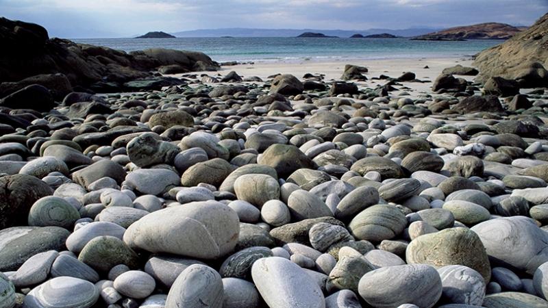 Taş Kayalık Deniz Manzarası Kanvas Tablo