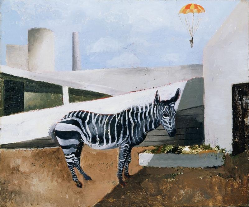 Tate Zebra Yağlı Boya Klasik Sanat Kanvas Tablo