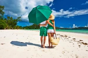 Tatil ve Yeşil Çift Aşk & Sevgi Kanvas Tablo
