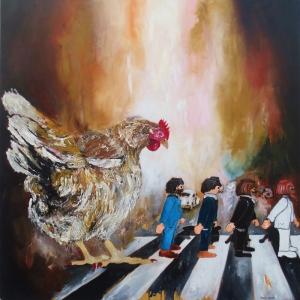 Tavuk Ana Soyut Abstract Modern Sanat Kanvas Tablo