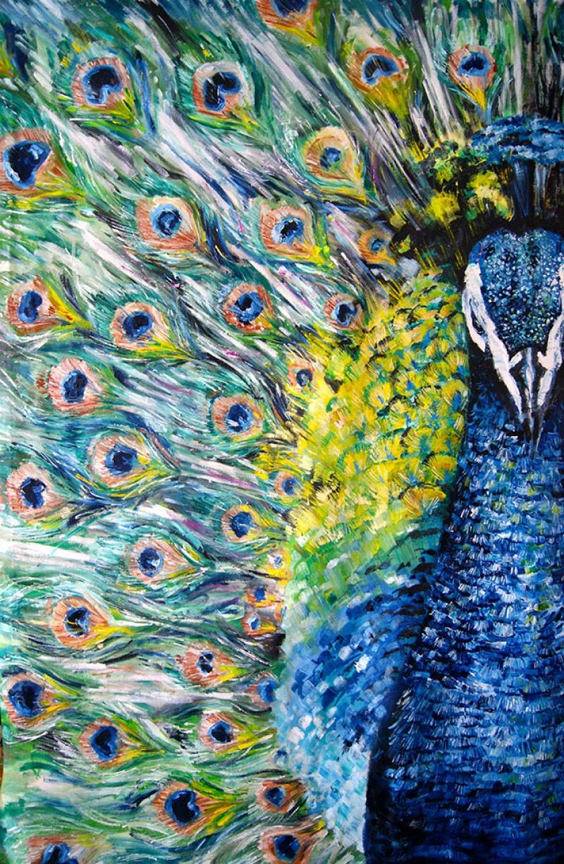 Tavuz Kuşu 1 Yağlı boya Modern Kanvas Tablo