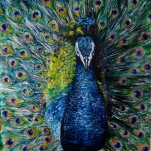 Tavuz Kuşu-2 Modern Sanat Kanvas Tablo
