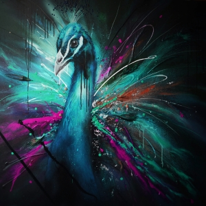 Tavuz Kuşu-3 Klasik Sanat Kanvas Tablo