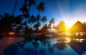 Tayland Sahili Doğa Manzaraları Kanvas Tablo
