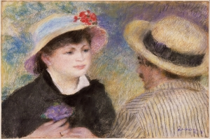 Tekne, Gezen Çift, Pierre August Renoir Boating Couple Klasik Sanat Kanvas Tablo