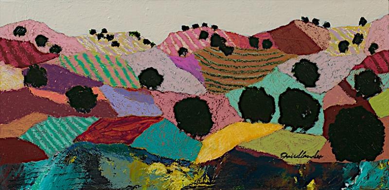 Tepeler Yağlı Boya Sanat Kanvas Tablo