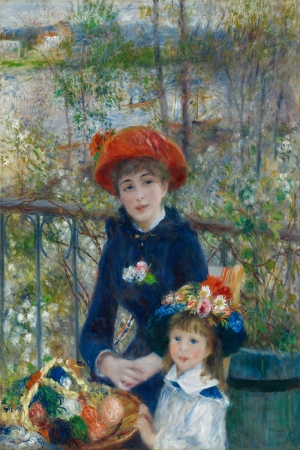 Terastaki İki Kız Kardeş, Pierre August Renoir, Two Sisters On The Terrace Klasik Sanat Kanvas Tablo