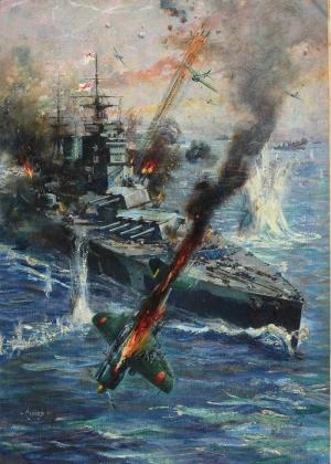 Terence Cuneo Savas Sahnesi 4 Savas Ucagi Yağlı Boya Klasik Sanat Canvas Tablo