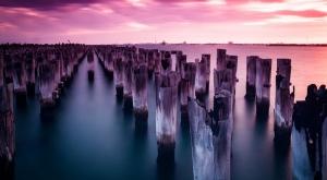 Terkedilmiş İskele Doğa Manzaraları Kanvas Tablo