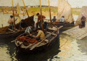 Terrick John Williams Balıkçılar Ve Tekneler Klasik Sanat Kanvas Tablo