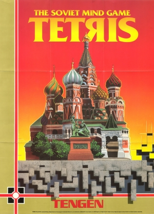 Tetris Poster Retro & Motto Kanvas Tablo