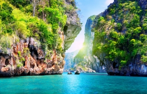 Thailand Pattaya Kumsalı Doğa Manzaraları Kanvas Tablo