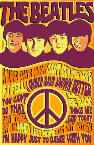 The Beatles Poster Popüler Kültür Kanvas Tablo