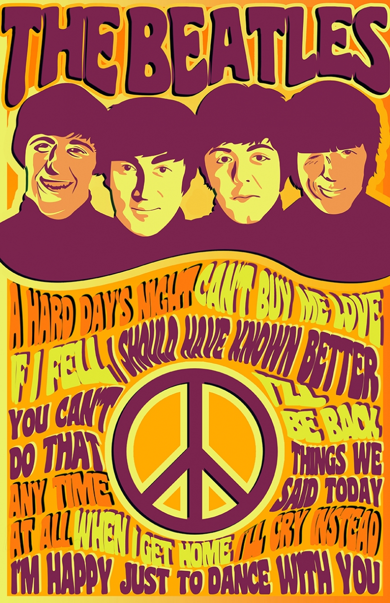 The Beatles Poster Popüler Kültür Kanvas Tablo