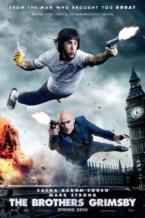 The Brothers Grimsby  Sacha Baron Cohen Mark Strong Film Afişi Sinema Kanvas Tablo