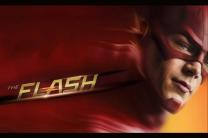 The Flash Süper Kahramanlar Poster-3 Kanvas Tablo