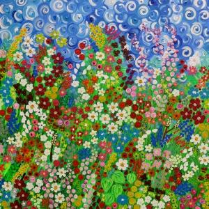 The Flowers Of Barnsdale Gardens, Charron Pugsley Hill, Barnsdale Bahçelerinin Çiçekleri Klasik Kanvas Tablo