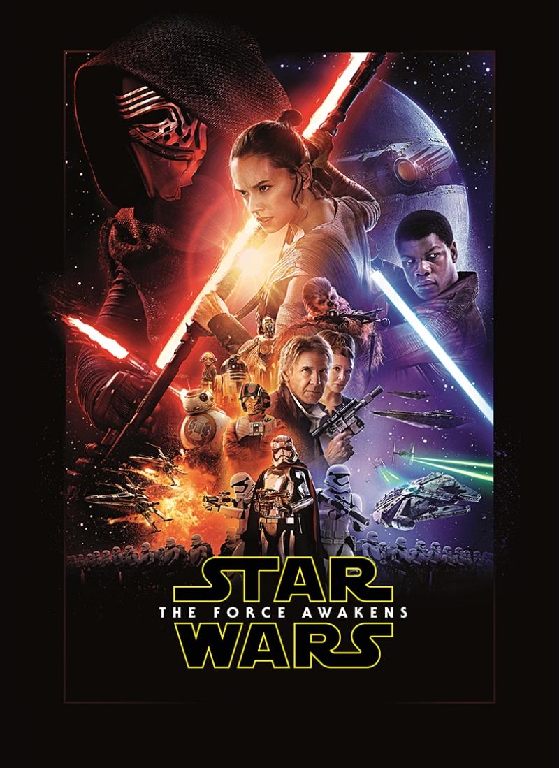 The Force Awakens Film Poster Star Wars Kanvas Tablo