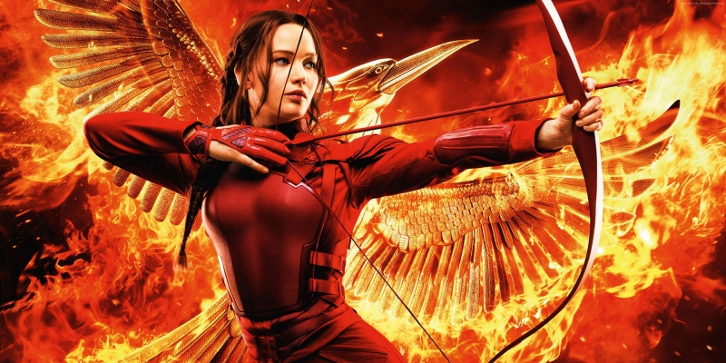 The Hunger Games 1 Mockingjay Part 2 Jennifer Lawrence Sinema Kanvas Tablo