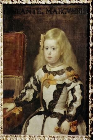 The Infanta Margarita Diego De Velazquez Klasik Sanat Kanvas Tablo