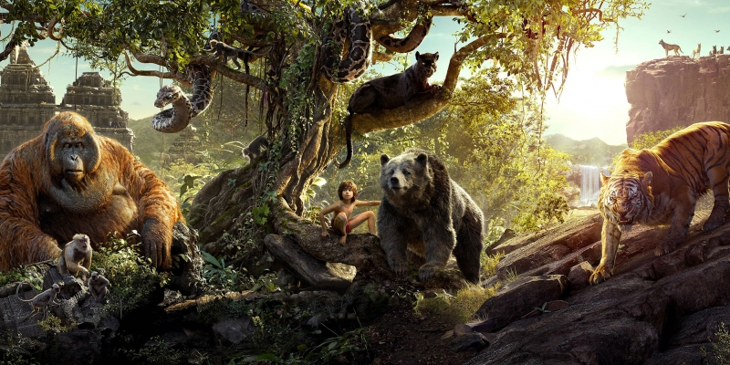 The Jungle Book Filmi Mowgli Bagheera Sinema Kanvas Tablo