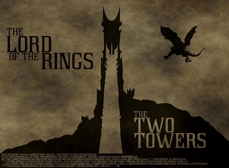 The Lord of the Rings Yüzüklerin Efendisi 2 Kule Kanvas Tablo