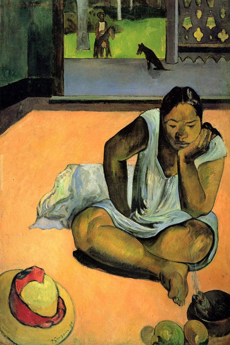 The Schmollende Paul Gauguin Reproduksiyon Kanvas Tablo