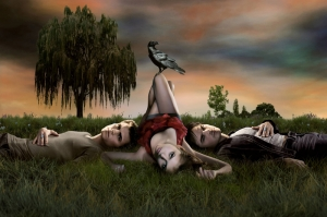 The Vampire Diaries Poster Kanvas Tablo