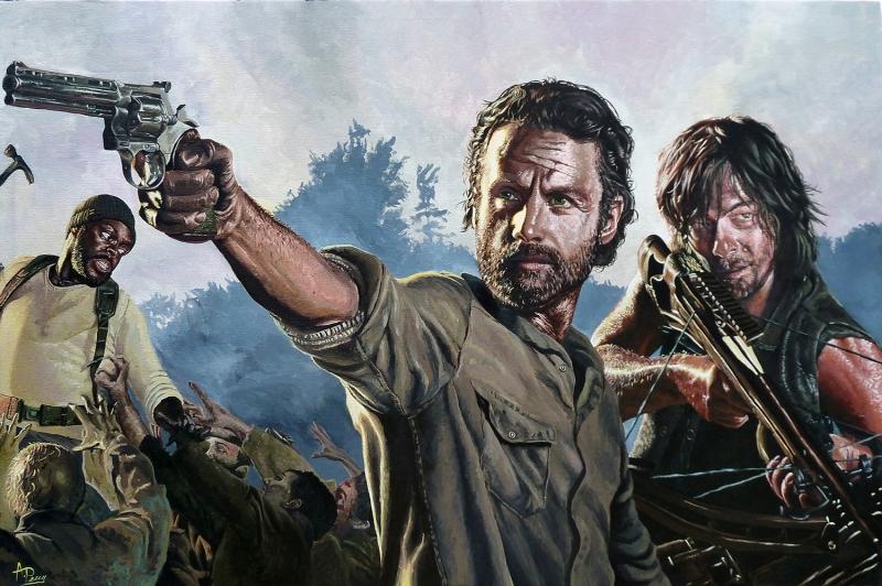 The Walking Dead Anime Kanvas Tablo