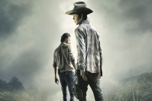 The Walking Dead Carl And Rick Kanvas Tablo