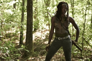 The Walking Dead Michonne Kanvas Tablo