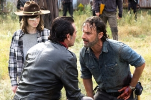 The Walking Dead Negan And Rick Kanvas Tablo