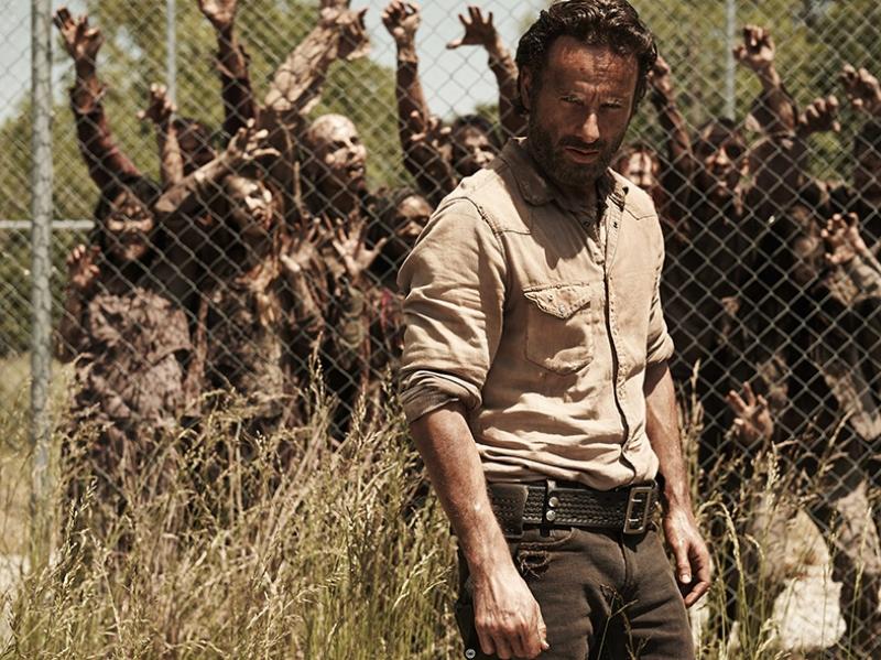 The Walking Dead Rick Grimles Kanvas Tablo