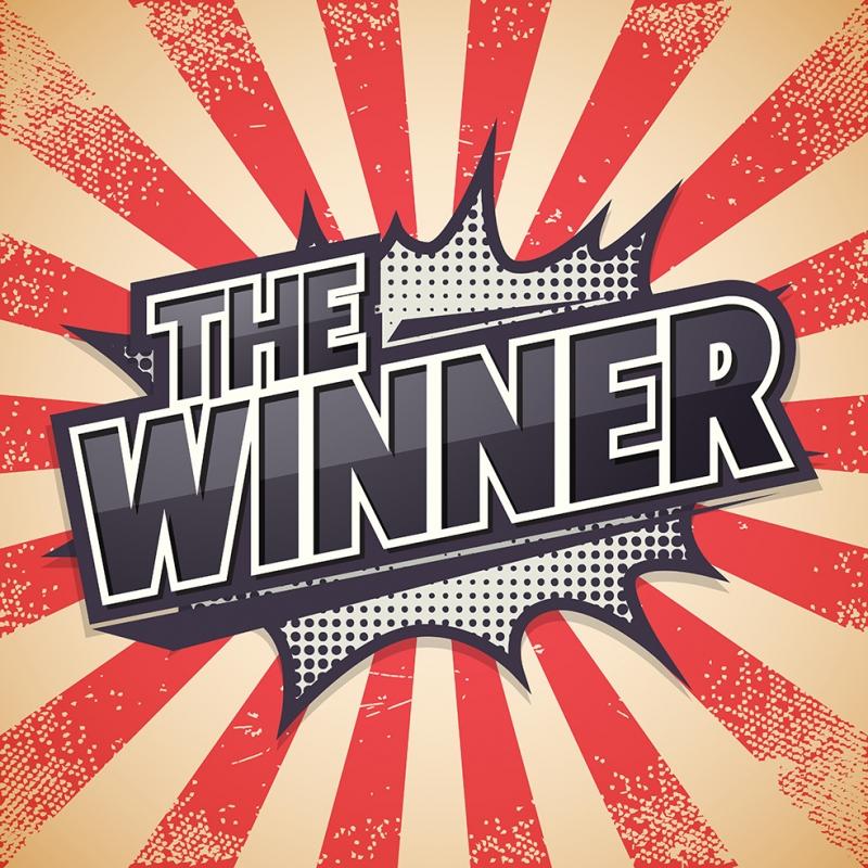 The Winner Retro & Motto Kanvas Tablo