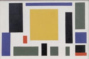 Theo Van Doesburg Kompozisyon Sekiz Yagli Boya Klasik Sanat Kanvas Tablo