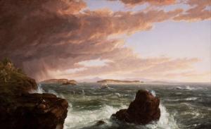 Thomas Cole Hırçın Dalgalar Yağlı Boya Klasik Sanat Canvas Tablo