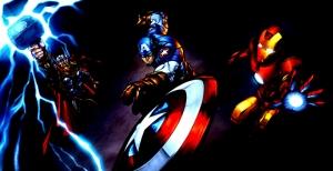 Thor Captain America Iron Man Süper Kahramanlar Kanvas Tablo