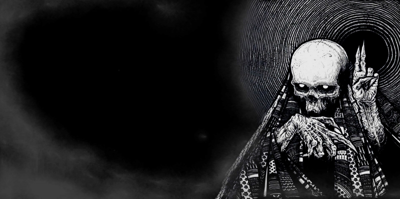 Tiki İskelet Korku-2 Kanvas Tablo