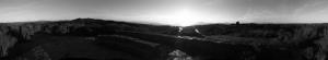 Tilden Park Siyah Beyaz Panaroma Panaromik Kanvas Tablo