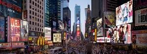 Times Meydanı Panaromik Dünyaca Ünlü Şehirler Kanvas Tablo