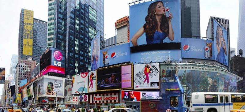 Times Square Panaroma Panaromik Manzara Kanvas Tablo