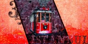 Tramvay Taksim İstanbul Arttablo Exclusive Kanvas Tablo