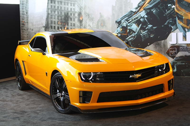Transformers Bumbleblee Chevrolet Camaro Spor Otomobil Kanvas Tablo